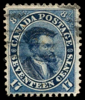 Lot 3210:1859 Decimal Currency SG #42 17c deep blue, Cat £95.
