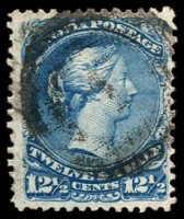 Lot 3212:1868-90 Large Heads Ottawa Printing Medium to Stout Wove Paper SG #60 15c bright blue, Cat £60.