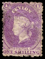 Lot 3252:1867-70 Wmk Crown/CC (Round) Perf 12½ SG #71b 6d reddish violet, Cat £13