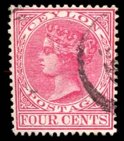 Lot 3254:1883-98 Wmk Crown/CA Perf 14 SG #149 4c rose, Cat £13.
