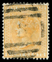 Lot 18170:1883-98 Wmk Crown/CA Perf 14 SG #150 8c orange-yellow, Cat £14.