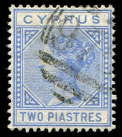 Lot 3967:1881 QV Wmk Crown/CC SG #13 2pi blue, Cat £35.