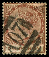 Lot 3420:1883-86 QV Wmk Crown/CA SG #15 2½d red-brown.