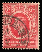 Lot 3425:1921 KGV Wmk Mult Script CA SG #67 6c carmine-red, Cat £20