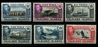 Lot 3709 [2 of 2]:1938-50 KGVI Pictorials SG #153-60 range 3d, 4d, 6d black, 9d, 1/-, 1/3d & 2/6d, Cat £45.