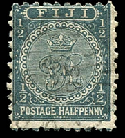 Lot 3719:1891-1902 New Design Perf 10 SG #76 ½d slate-grey.