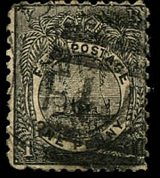 Lot 3721:1891-1902 New Designs Perf 11 SG #87 1d black