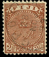Lot 3722:1891-1902 New Designs Perf 11x11¾ SG #103a 2½d yellow-brown.