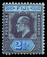 Lot 3723:1903 KEVII Wmk Crown/CA SG #107 2½d dull purple & blue/blue, toned gum, Cat £14.