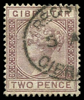 Lot 3817:1886-87 Wmk Crown/CA SG #10 2d brown-purple, Cat £35.