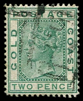 Lot 3834:1876-84 Wmk Crown/CC Perf 14 SG #6 2d green