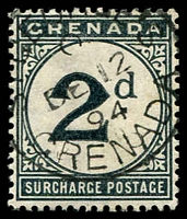 Lot 23527 [2 of 3]:1892 Wmk Crown/CA SG #D1-2,10 1d & 2d plus 1906 3d blue-black.
