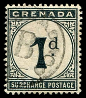 Lot 23527 [3 of 3]:1892 Wmk Crown/CA SG #D1-2,10 1d & 2d plus 1906 3d blue-black.