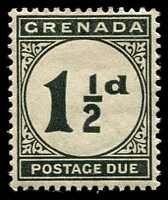 Lot 23529:1921-22 Script SG #D12 1½d black, Cat £13.
