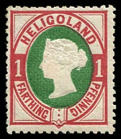 Lot 3920:1875-90 SG #10 1pf deep green & rose, Cat £20, adhesions on gum