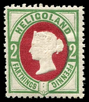 Lot 3620:1875-90 SG #11 2pf deep rose & deep green, Cat £20, gum adhesion