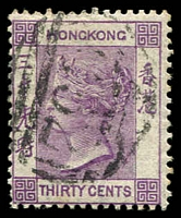 Lot 3750:1863-71 Wmk Crown/CC Perf 14 SG #16 30c mauve.