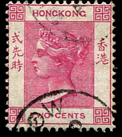 Lot 21048:1882-96 Wmk Crown/CA SG #32a 2c rose-pink, Cat £32.