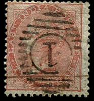 Lot 3750:1856-64 No Wmk SG #44 2a orange, Cat £55.