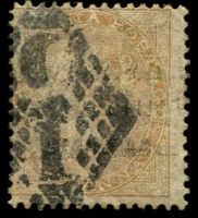Lot 3986:1856-64 Yellowish to White Paper SG #42 2a yellow-buff, Cat £45.