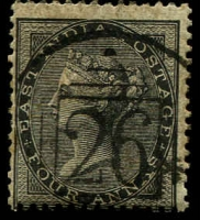 Lot 3987:1856-64 Yellowish to White Paper SG #45 4a black, Cat £10.