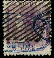 Lot 3989:1860 No Wmk SG #52 8p purple/white.