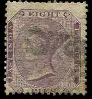 Lot 3990:1860 No Wmk SG #53 8p mauve, Cat £13.