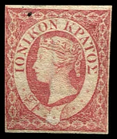 Lot 3812:1859 Imperf SG #3 (2d) carmine 4 close even margins, small black spot, Cat £28.