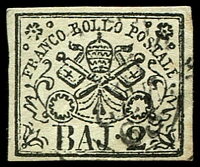 Lot 3936:1852-64 Arms SG #14 2b black/white, 4 margins, thick paper, Cat £95.