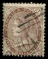 Lot 23974:1860 SG #6b 1/- dull brown, Cat £27.