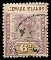 Lot 3895:1890 QV SG #5 6d dull mauve & brown, Cat £14.