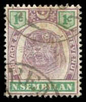 Lot 25220:1895-99 Tiger SG #5 1c dull purple & green, Cat £12.