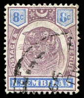Lot 25223:1895-99 Tiger SG #9 8c dull purple & ultramarine, Cat £24.