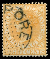 Lot 3898 [2 of 3]:1882 Wmk Crown/CA SG #52 8c orange x3 shades.