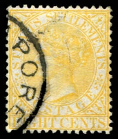 Lot 3898 [3 of 3]:1882 Wmk Crown/CA SG #52 8c orange x3 shades.