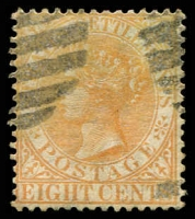 Lot 3898 [1 of 3]:1882 Wmk Crown/CA SG #52 8c orange x3 shades.
