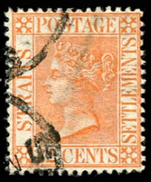 Lot 3900:1883-91 New Colours SG #70 32c orange-vermilion.