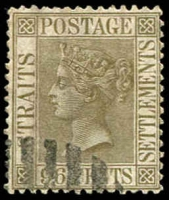 Lot 3901:1883-91 New Colours SG #71 96c olive-grey, Cat £55.