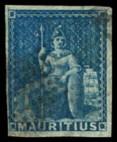 Lot 21947:1858-62 Imperfs SG #31 unissued (no value) blue 4- margins, fake cancel.