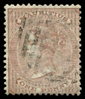 Lot 3956:1863-72 Wmk Crown/CC SG #57 1d brown, Cat £13.