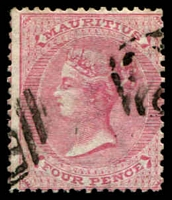 Lot 3958 [2 of 2]:1863-72 Wmk Crown/CC SG #62 4d rose x2 shades. (2)