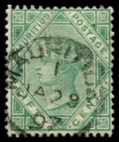 Lot 3936:1879-80 New Currency Wmk Crown/CC SG #99 50c green