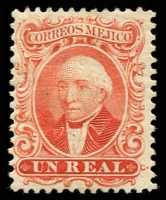 Lot 25766 [4 of 4]:1864 Hildago: SG #15a-8a 1r to 1p all without ovpt, 1p MNG. (4)