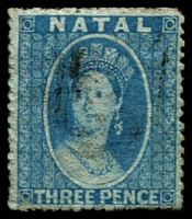 Lot 3951:1861 Chalon No Wmk Intermediate Perf 14-16 SG #11 3d blue, Cat £65