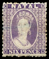 Lot 4000:1863-65 Wmk Crown/CC Perf 12½ SG #23 6d lilac, Cat £17.