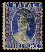Lot 4003:1870-73 'POSTAGE/POSTAGE' Opt SG #61 2d bright blue, Cat £13.