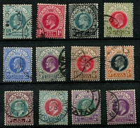 Lot 4006:1902-03 KEVII Wmk Crown/CA SG #127-38 ½d to 2/6d, Cat £50. (12)