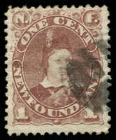 Lot 4106:1880-92 SG #44b 1c red-brown, Cat £20