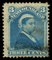 Lot 25742:1880-92 SG #47a 3c bright blue, Cat £6.50