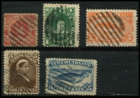 Lot 4107 [2 of 2]:1887 New Colours and Values SG #49-54 ½c to 10c (faults), Cat £95